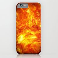 iPhone & iPod Case featuring Surface Of The Sun by Corbin Henry