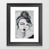 Miss Tigre Framed Art Print