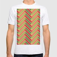 Holly Go Chevron Mens Fitted Tee Ash Grey SMALL