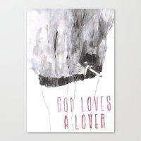 God Loves A Lover Canvas Print
