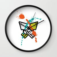 Splatoon - Turf Wars 4 Wall Clock