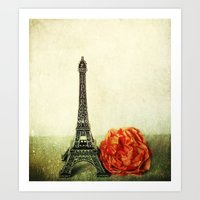 Textured Paris StillLife… Art Print