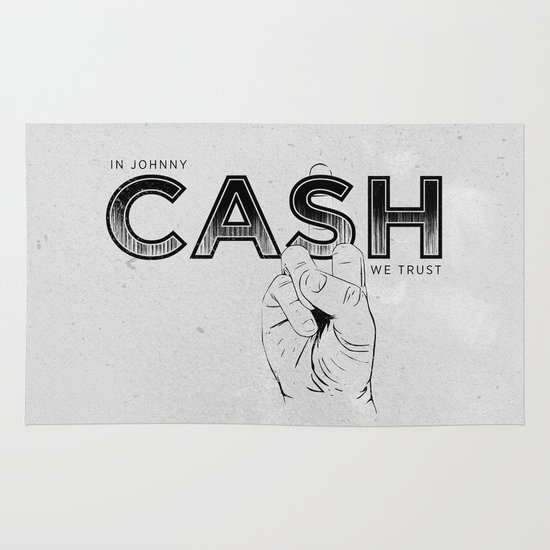 In Johnny Cash We Trust. Area & Throw Rug
