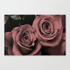 Binary, 0r Two Hearts Beat As One Canvas Print