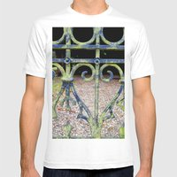 Heart and swirls Mens Fitted Tee White SMALL