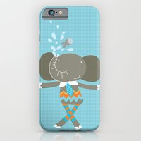 iPhone & iPod Case featuring happy elephant by PinkNounou
