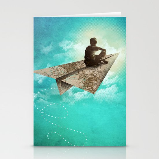 Paper Aeroplane Stationery Card