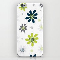 Simple Multi Flower iPhone & iPod Skin