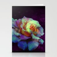 Purple Kissed Rose Stationery Cards