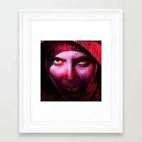 The miserable nun Framed Art Print