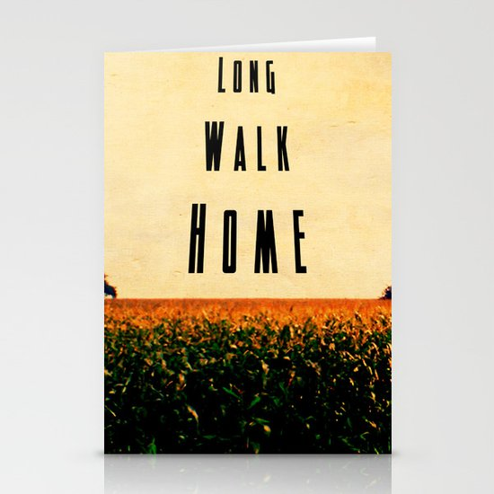walk home Stationery Card