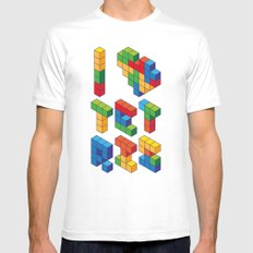 I Heart Tetris White SMALL Mens Fitted Tee