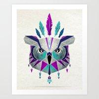 owl king Art Print
