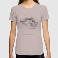 Pleased To Meet You ... Womens Fitted Tee Cinder SMALL