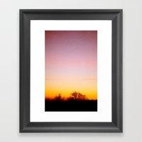 Rosey Morning Sky Framed Art Print