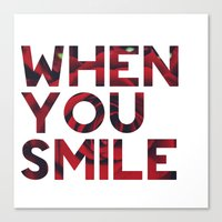 I Smile... Canvas Print