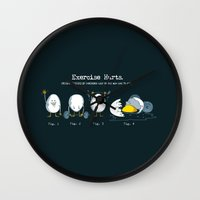 Exercise Hurts Wall Clock