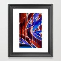 Drips war Framed Art Print