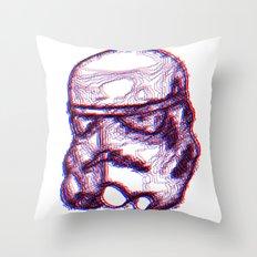 Stormtrooper Helmut 3D Throw Pillow