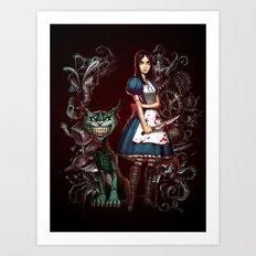 Alice's Madness Art Print