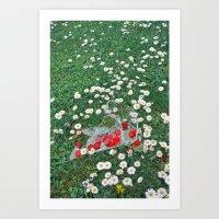 Daisies & Candies Art Print
