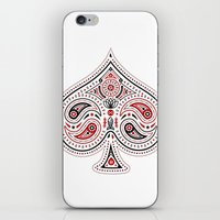 83 Drops - Spades (Red &… iPhone & iPod Skin