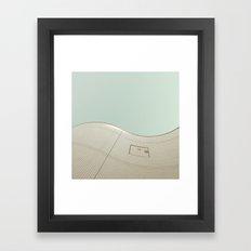 wavy wall Framed Art Print