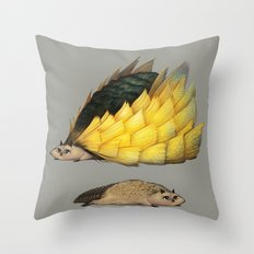 Golden Platypowl Throw Pillow