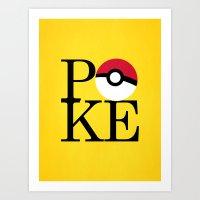 Poke Art Print