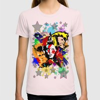 Bowie PopArt Metamorphos… Womens Fitted Tee Light Pink SMALL