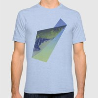 Triangle Mountains Mens Fitted Tee Athletic Blue SMALL