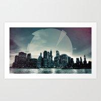 Manhattan Night Art Print