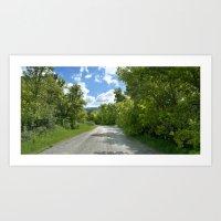 Country roads five Art Print