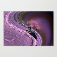 Ride The Big Waves With … Canvas Print