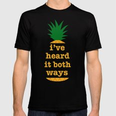 I've Heard It Both Ways Mens Fitted Tee Black SMALL