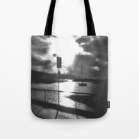 Morning Awakes The Harbo… Tote Bag