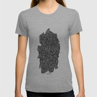 - Nude On The Grass - Womens Fitted Tee Tri-Grey SMALL