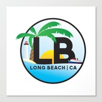 Long Beach CA Logo Desig… Canvas Print