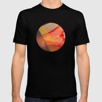 Orange Flow Mens Fitted Tee Black SMALL