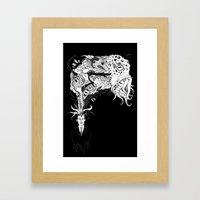 H.P. Monsters Black Tee … Framed Art Print