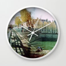 Paris in the Spring Time 2 Wall Clock