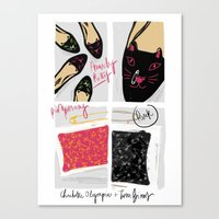 Canvas Print featuring #theSliceSerie: Anarchy Kitty by Silbox