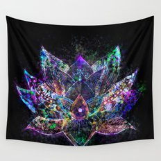 Lotus Flower Glow Wall Tapestry