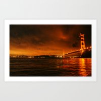 gg bridge Art Print