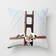 BAY GULLS Throw Pillow
