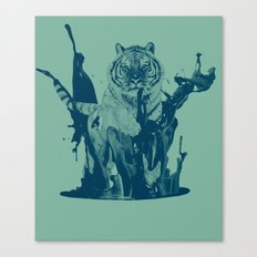 Paint Tiger Canvas Print