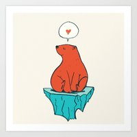 Just Bear Art Print