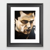 Young Johnny Cash Framed Art Print
