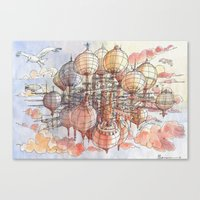 The Flying  Village Canvas Print