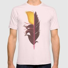 Feather #7 Mens Fitted Tee Light Pink SMALL